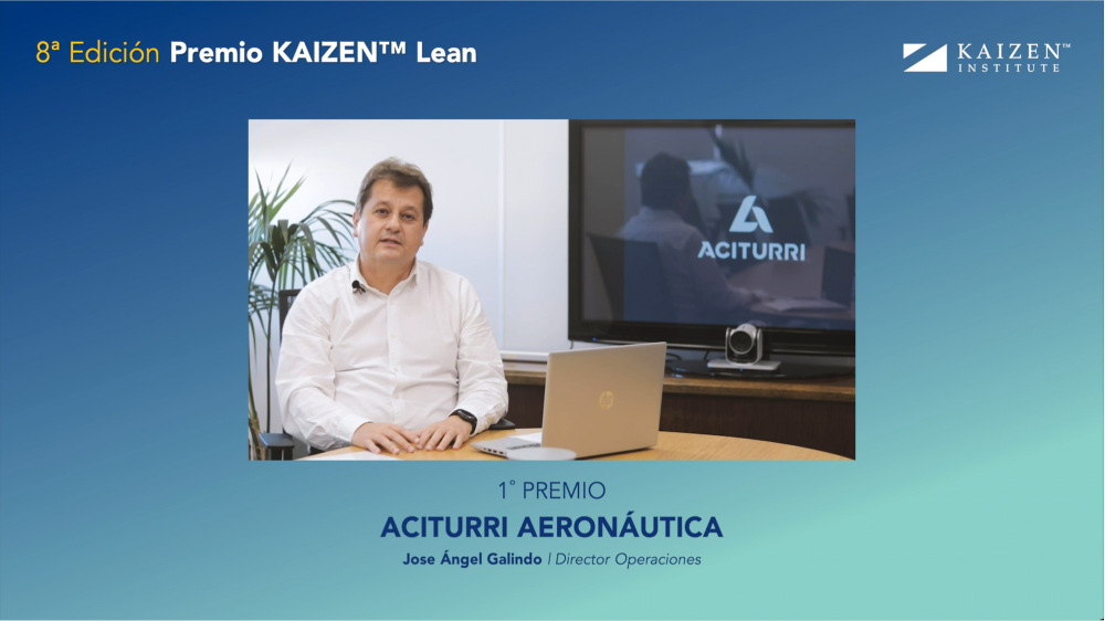 Aciturri Aeronáutica awarded with the Prémio KAIZEN™ Lean Spain 2020, Category: Excellence in Continuous Improvement Strategy