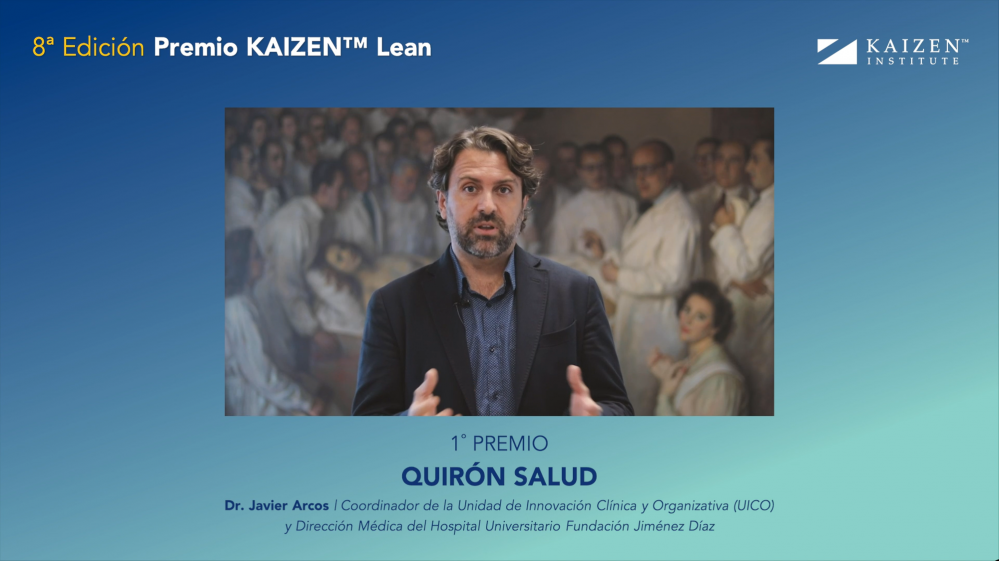 Quirón Salud awarded with the Prémio KAIZEN™ Lean Spain 2020, Category: Excellence in Efficiency