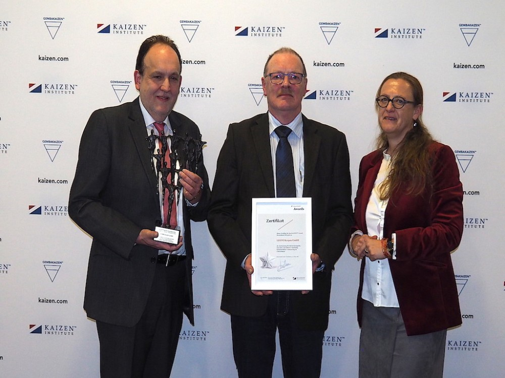 LEONI awarded with the KAIZEN™ Award Deutschland 2018, Category: Excellence in Continuous Improvement System