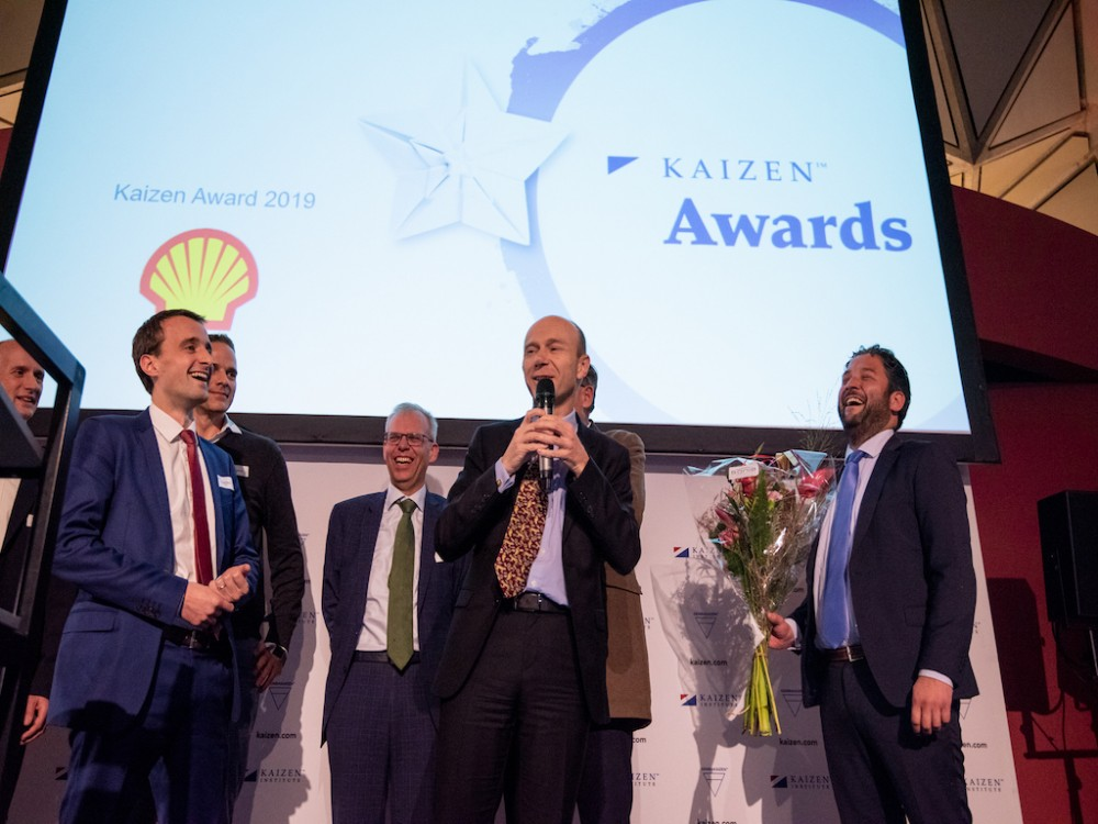 Shell Chemicals Europe awarded with the KAIZEN™ Award Netherlands 2019, Category: Excellence in Continuous Improvement System